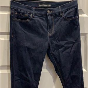 Jean legging mid rise — dark blue